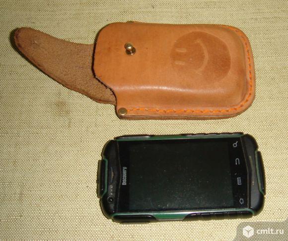 Кожаный чехол для телефона Ланд Ровер