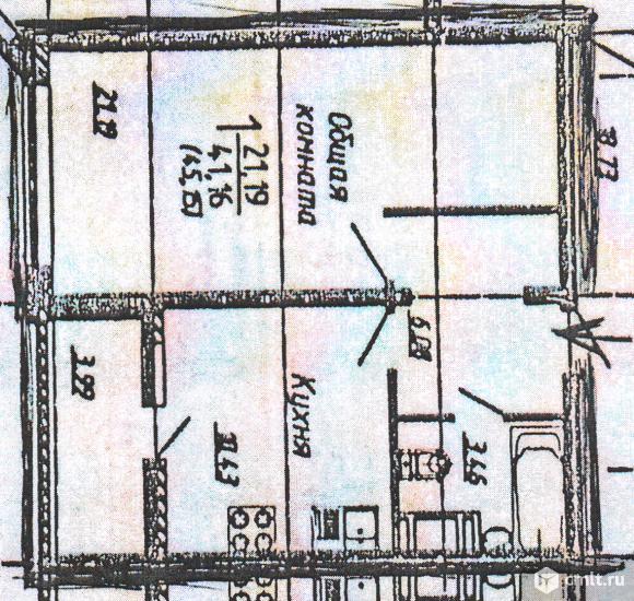 1-комнатная квартира 45,1 кв.м