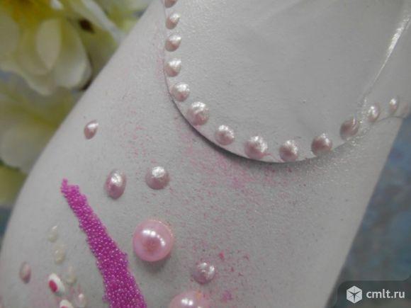 Свадебный декор на бутылках