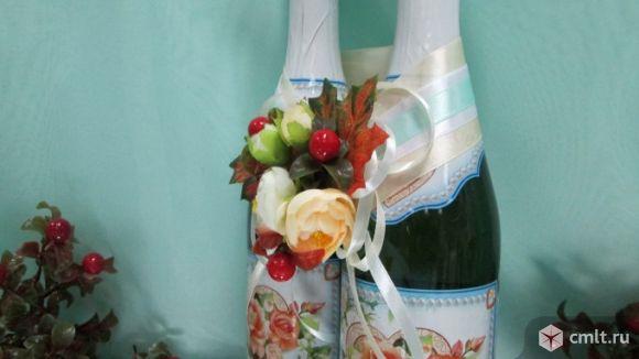 Ленты для украшения свадебных бутылок