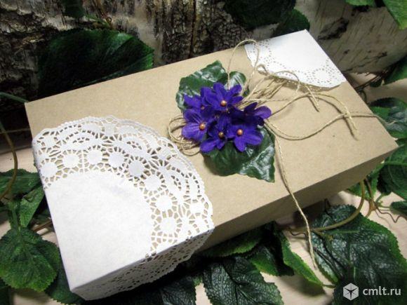 Коробка из крафта для свадебного подарка