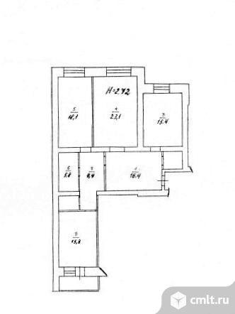 3-комнатная квартира 108,6 кв.м