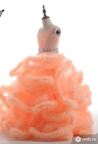 Детское платье Персиковое облако,