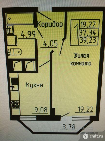 1-комнатная квартира 37,9 кв.м