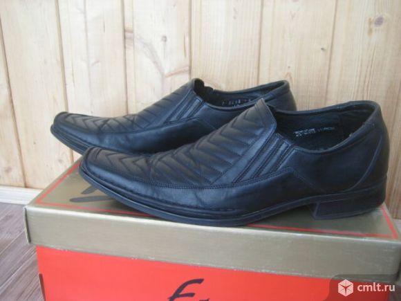 Туфли кожаные мужские. Фото 2.