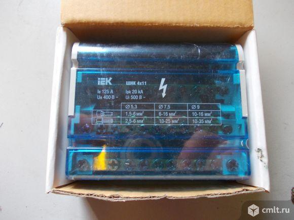 Шина на DIN-рейку в корпусе (кросс-модуль) 3L+PEN 4х11 (YND10-4-11-125). Фото 1.