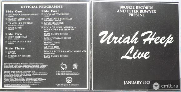 """2 грампластинки (винил). Гигант [12"""" LP]. Uriah Heep. Live January 1973. (P)(C) 1993 SNC Records.. Фото 1."""