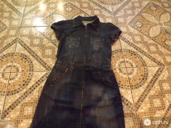 Джинсовое платье на рост 140 см