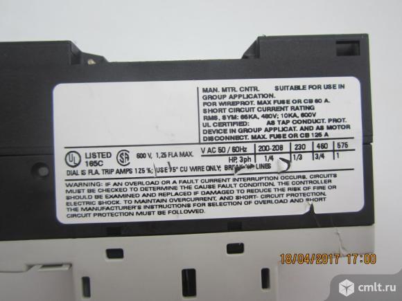 Автоматический выключатель siemens 3rv1011-0ka10