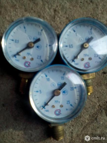 Манометр 0- 2,5 МПа и 0- 25 МПа. Фото 2.
