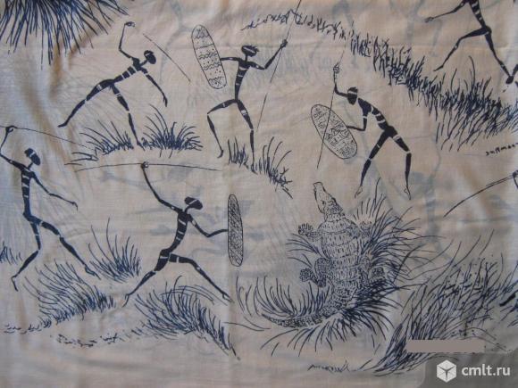 Летний шарф х/б африканские мотивы 40х175см. Фото 4.