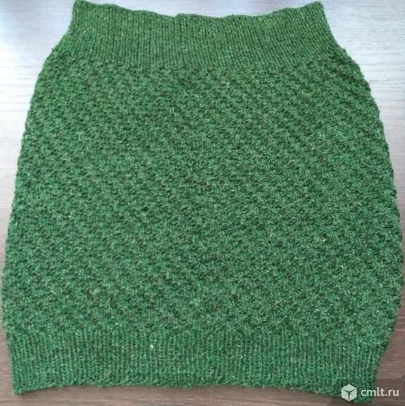 Юбка зеленая вязаная