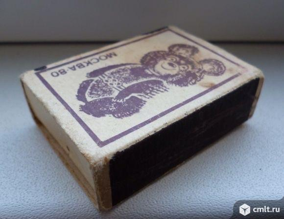Спичечный коробок Олимпийский Мишка. Фото 1.