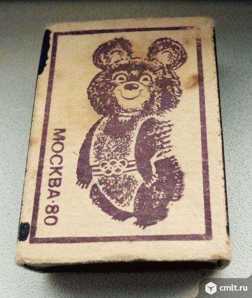Спичечный коробок Олимпийский Мишка. Фото 3.