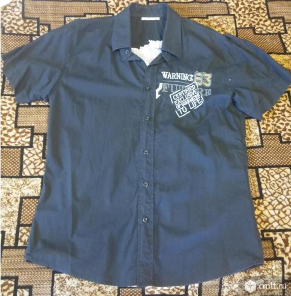 Рубашка черная с коротким рукавом «Bellotti»