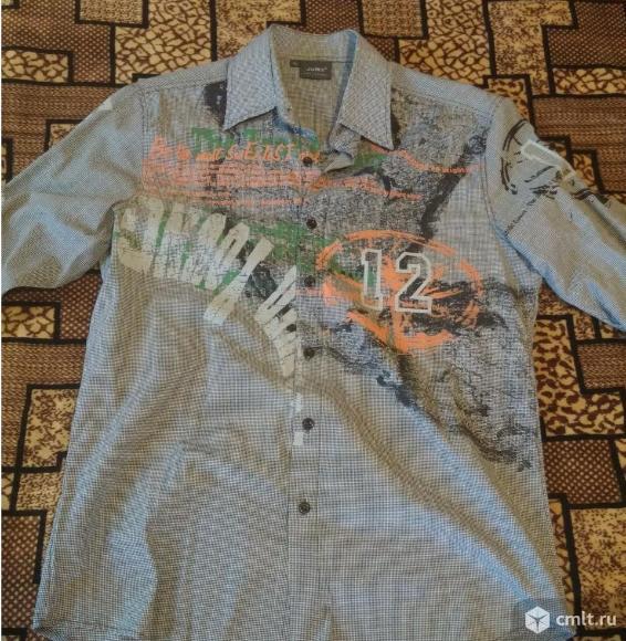 Рубашка серая, с рисунком, с длинным рукавом Jury. Фото 1.