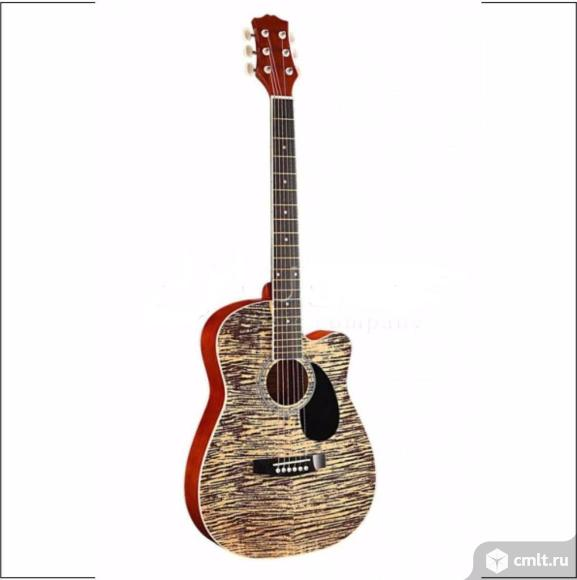 """LF-3800CT-N Фольковая 6-струнная гитара 38"""" с вырезом."""