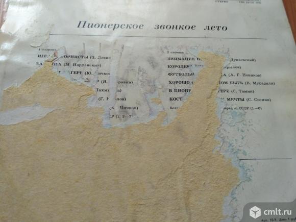 """Виниловая пластинка """"Пионерское звонкое лето"""". Фото 2."""