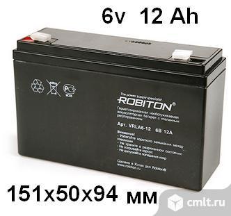 Аккумулятор для детских машинок Robiton 6v 12 Ah 151x50x94 mm в Белгороде. Фото 2.