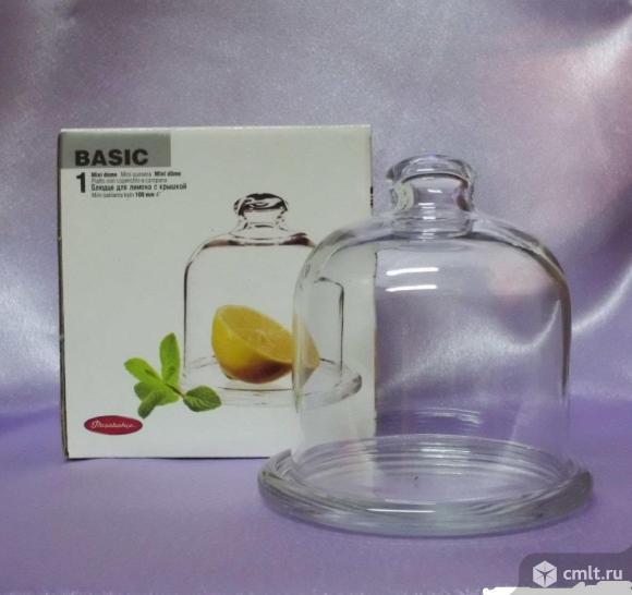 Блюдце для лимона или масла с крышкой 100мм4* BASIK PASABAHCE