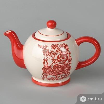 Чайник заварочный «Змея» 520 мл. Китай. Шикарный фарфор.