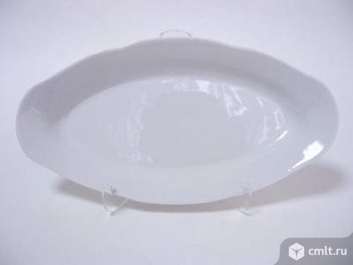 Селёдочница белая, большая,ресторанная, керамическая СССР Винтаж
