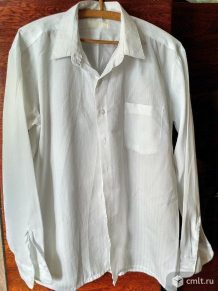 Рубашка белая с длинным рукавом. Фото 1.