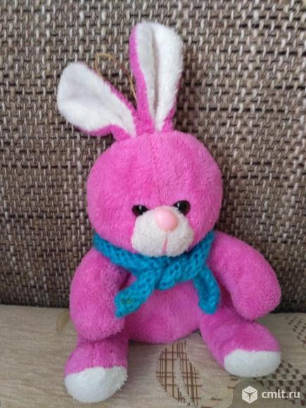 Розовый Зайка - мягкая игрушка