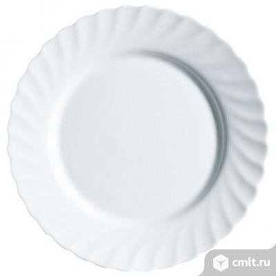 Тарелка обеденная Luminarc Trianon Трианон - 245 мм. Белая. Франция.