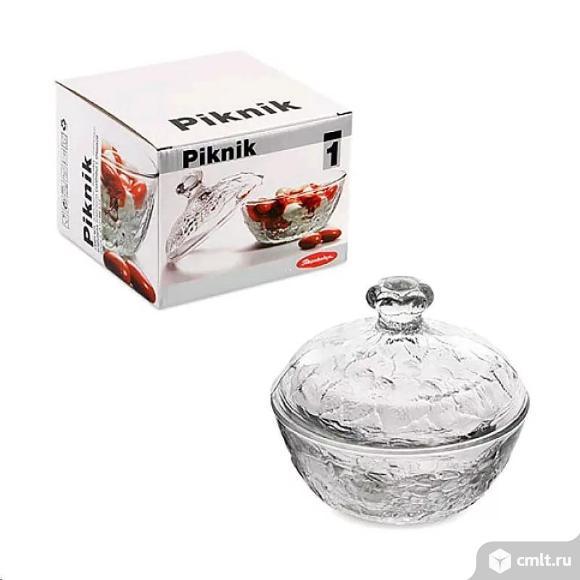 Сахарница Pasabahce Пикник с крышкой диаметр 13,1 см мм