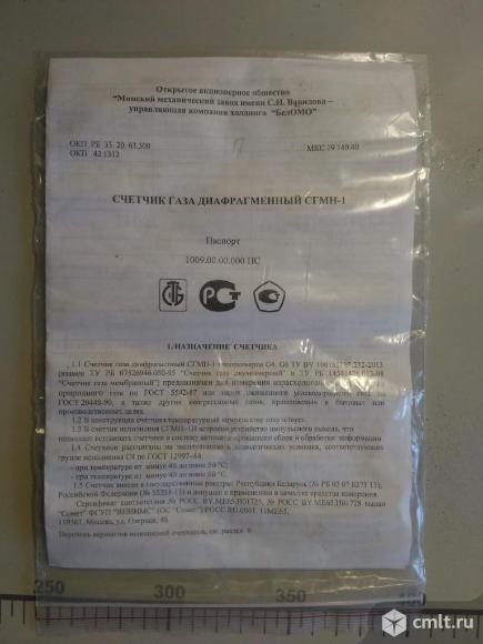 Счетчик газа СГМН-1-G6