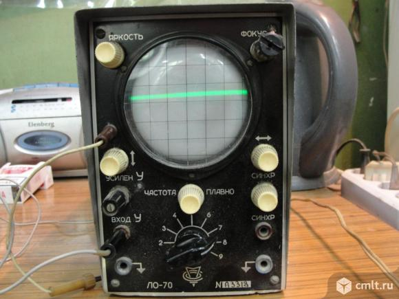 Осциллограф радиолюбителя ЛО-70 раритет. Фото 1.