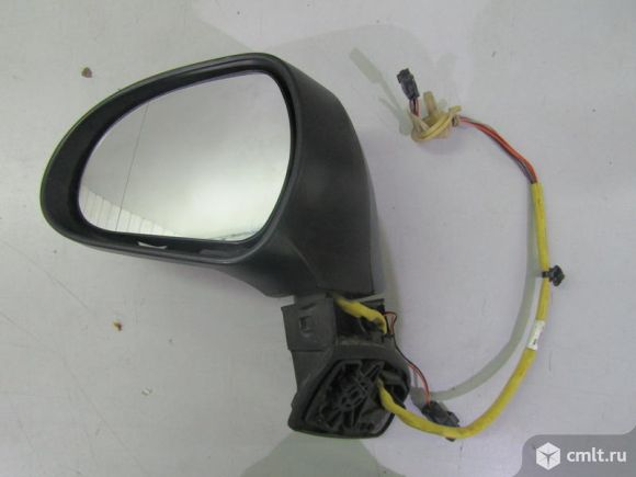 Зеркало левое электр. 6+2 конт. PEUGEOT 308 хечбек 07-15 б/у 8153NE 4*. Фото 1.