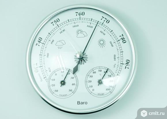 Барометр с термометром и гигрометром
