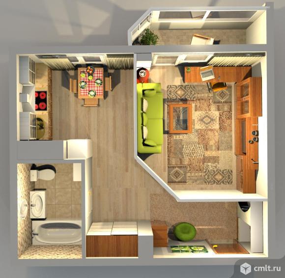 1-комнатная квартира 35,3 кв.м