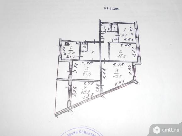 5-комнатная квартира 88 кв.м