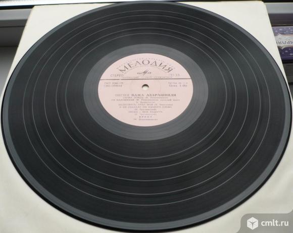 """Грампластинка (винил). Гигант [12"""" LP]. Песни Важа Азарашвили. Эстрадная музыка. Мелодия, 1976.. Фото 8."""