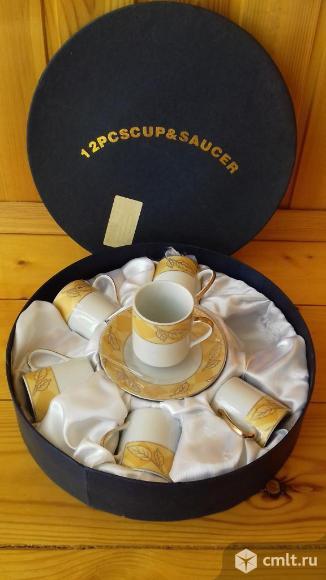 Сервиз кофейный фарфоровый, 6 персон