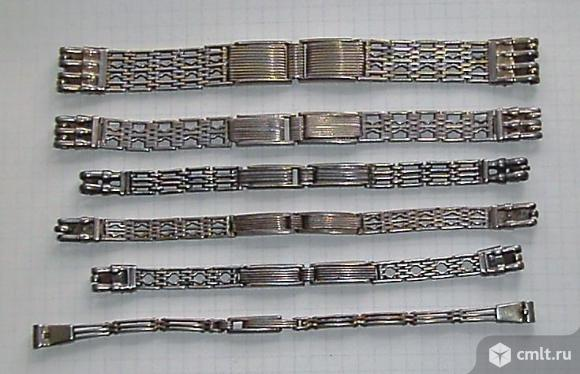 Серебряные браслеты для часов.. Фото 1.