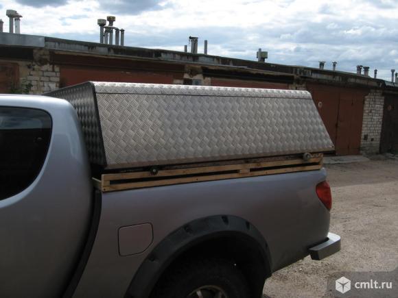 Для митцубиси Л200\ клуб каб \полуторная кабина кунг в кузов из алюминия. Фото 1.