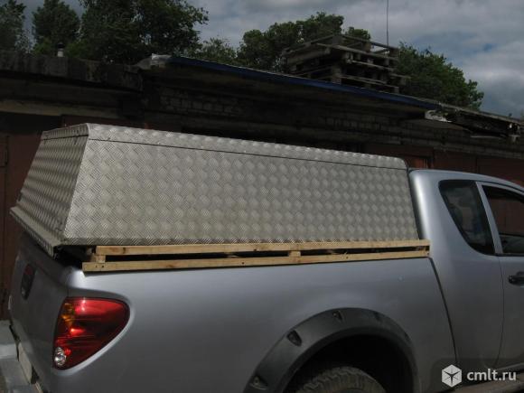 Для митцубиси Л200\ клуб каб \полуторная кабина кунг в кузов из алюминия. Фото 3.