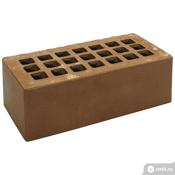 Кирпич лицевой керамический  Железногорский, темно-коричневый, 1,4НФ, М125, (352шт, упаковка)