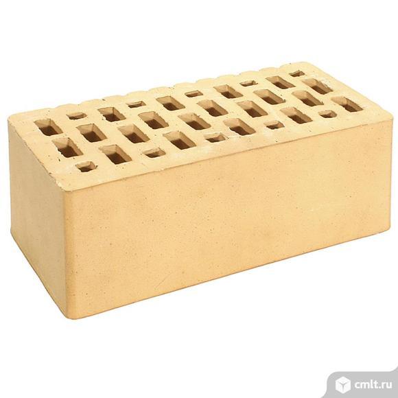 Кирпич лицевой керамический Тербунский, золотистый, гладкий, 1,4НФ, М200, (192шт, упаковка)