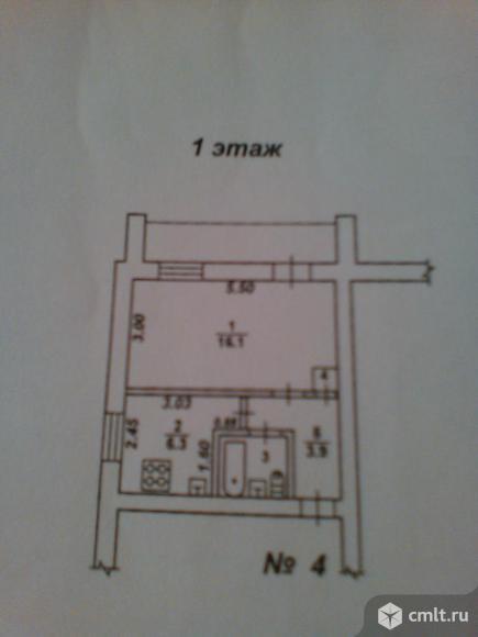 1-комнатная квартира 35,1 кв.м