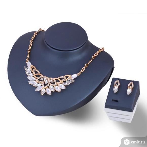 Хрустальный цветок.Ожерелье ювелирных изделий. Фото 1.
