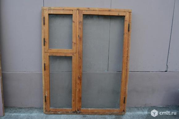 Оконные рамы деревянные, размер 115*147