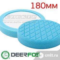 Круг полир. липучка Deerfos D180/150 синий с нишей