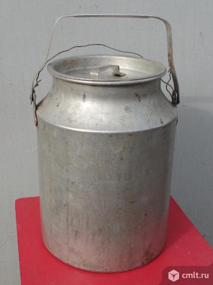 Бидон алюминиевый 10 литров б/у.