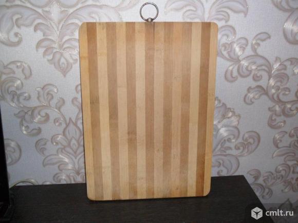 Доска разделочная деревянная 35см на 25см на 1см.. Фото 2.