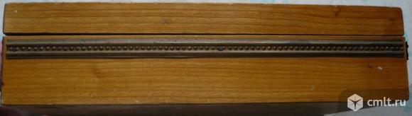 Шкатулка, чеканка, винтаж, СССР. Высота: 6 см. Внутренние размеры шкатулки: 22,4 x 14,5 см.. Фото 7.